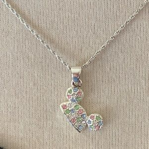 Disney Multi Colored Gems Mouse Cap Necklace